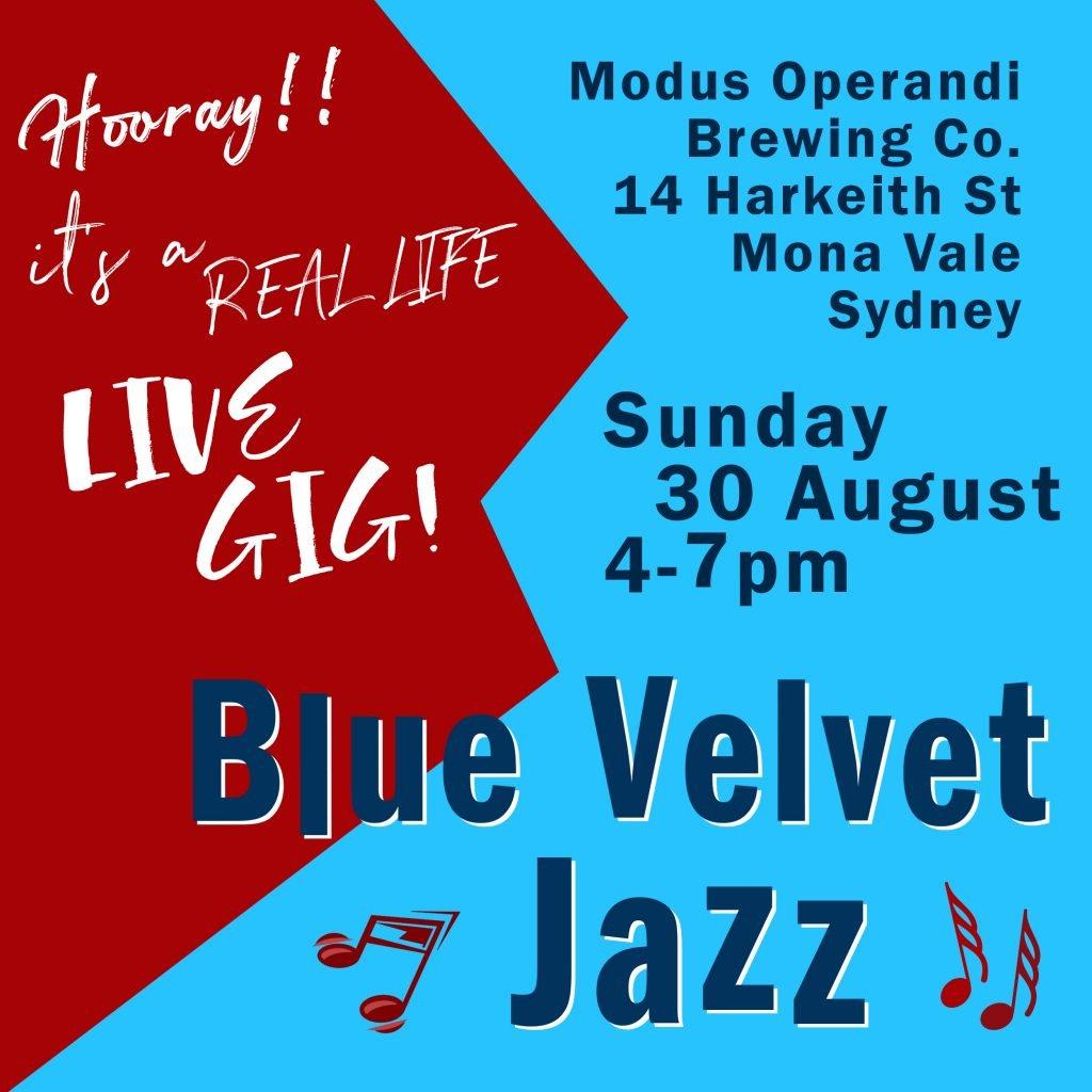 blue velvet jazz gig notice