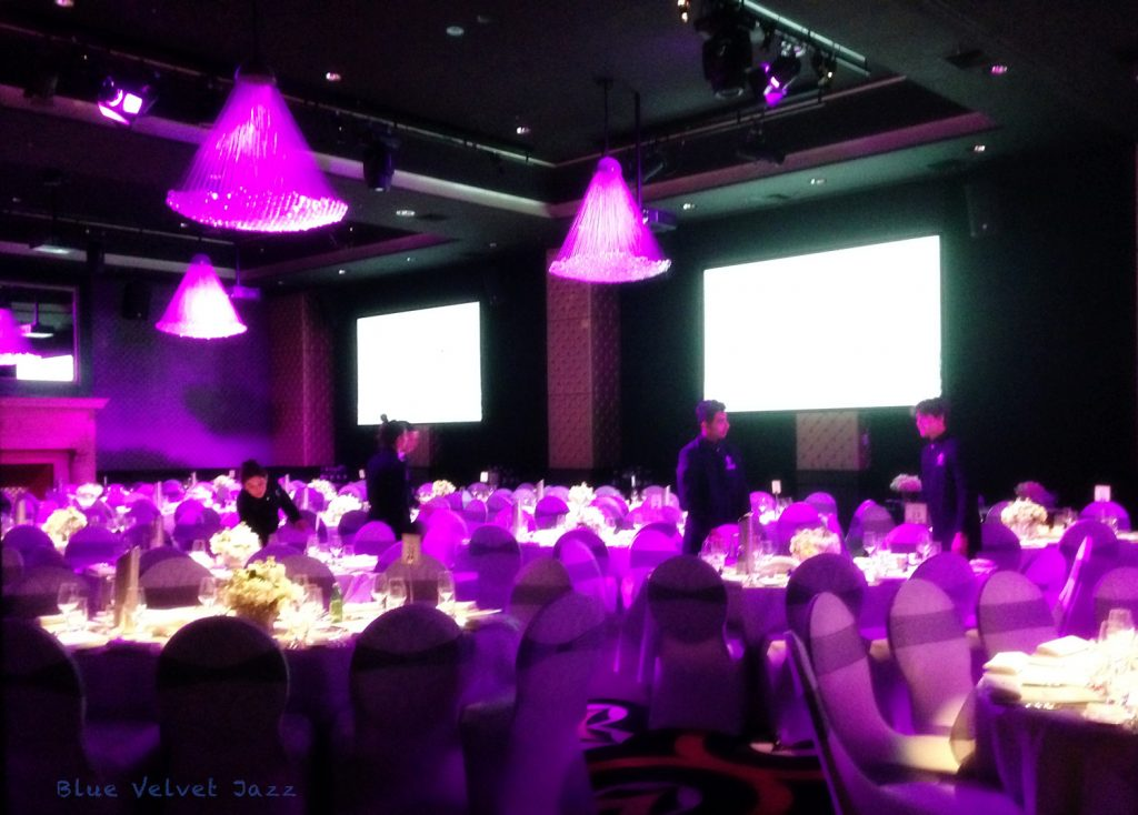 room lit for event